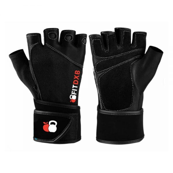 Weight Lifting Gloves - Full Leather - Fit Dxb
