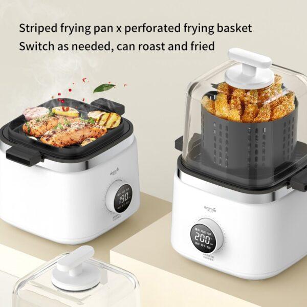 Deerma-air-frying-pan-visible-transparent-air-frying-pan-household-portable-air-frying-cup-kz200-2