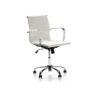 Mahmayi Ultimate 031H Eames Replica Ribbed PU Chrome High Back Chair - White